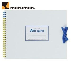 スケッチブック F2 マルマン アートスパイラル F2サイズ 24枚 5冊セット スケッチブック ホワイト S312-06|nomado1230