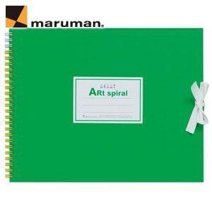 スケッチブック F3 マルマン アートスパイラル F3サイズ 24枚 5冊セット スケッチブック ライトグリーン S313-33|nomado1230