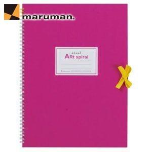 スケッチブック F4 マルマン アートスパイラル F4サイズ 24枚 5冊セット スケッチブック ピンク S314-08|nomado1230