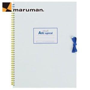 スケッチブック F4 マルマン アートスパイラル F4サイズ 24枚 5冊セット スケッチブック ホワイト S314-06|nomado1230