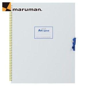スケッチブック F6 マルマンアートスパイラル F6 24枚 5冊セット スケッチブック ホワイト S316-06|nomado1230