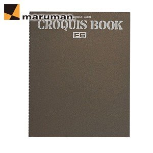マルマンクロッキーブック ツインワイヤとじ SCタイプ F6 アンチークレイド紙 5冊セット スケッチブック S216|nomado1230