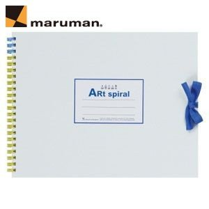 マルマンアートスパイラルシリーズ ツインワイヤとじ F1サイズ 10冊セット スケッチブック イエロー S311-04|nomado1230