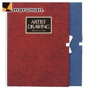 スケッチブック F4 マルマン アーチストメダリオン F4サイズ 20枚入 5冊セット スケッチブック ブルー S54A-02|nomado1230