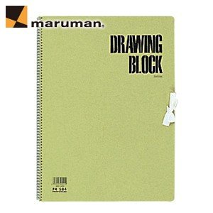 スケッチブック マルマン オリーブシリーズ スパイラルとじ F4サイズ オリーブ 5冊セット スケッチブック S84|nomado1230