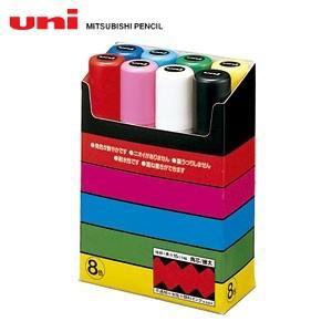 水性ペン類 三菱鉛筆 ポスカ 極太字タイプ 8色セット PC-17K8C|nomado1230