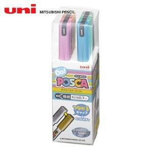水性ペン類 三菱鉛筆 ドゥポスカ メタリックカラー 6色セット PC-1MD6C|nomado1230