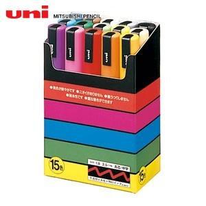 水性ペン類 三菱鉛筆 ポスカ 中字タイプ 15色セット PC-5M15C|nomado1230