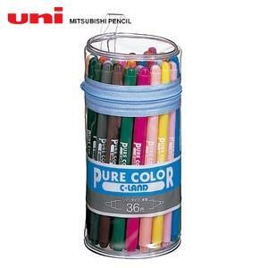 水性ペン類 三菱鉛筆 ピュアカラー 太字・細字タイプ 36色セット PW-100TPC36C|nomado1230