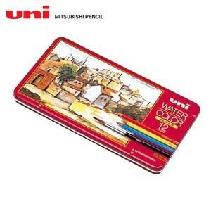 色鉛筆 三菱鉛筆 ユニ ウォーターカラー 12色入り 色鉛筆 UWC12C|nomado1230