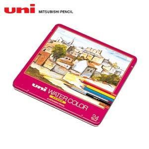 三菱鉛筆 ユニ ウォーターカラー 24色入り 色鉛筆 UWC24C|nomado1230