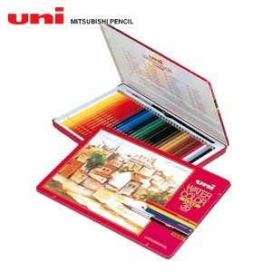 三菱鉛筆 ユニ ウォーターカラー 36色入り 色鉛筆 UWC36C|nomado1230