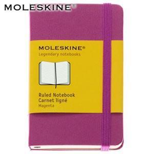 ノート 横罫 モレスキン カラーノートブック XS ルールド 横罫 マゼンタ ノートブック No. 404650|nomado1230