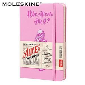 ノート 横罫 モレスキン 限定版 不思議の国のアリス ポケットサイズ 横罫 ノートブック ピンク No. 400867|nomado1230