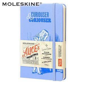 ノート 無地 モレスキン 限定版 不思議の国のアリス ポケットサイズ 無地 ノートブック ブルー No. 400874|nomado1230