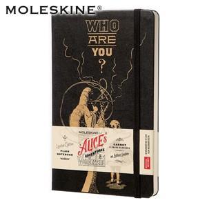 ノート 無地 モレスキン 限定版 不思議の国のアリス ラージサイズ 無地 ノートブック ブラック No. 400898|nomado1230
