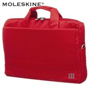 パソコンバッグ モレスキン デバイスバッグ ホリゾンタル 15.4インチ スカーレットレッド No. 401451|nomado1230