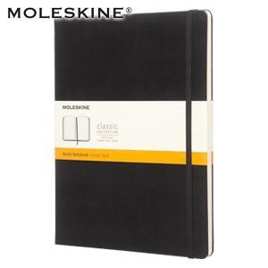 カバーノート 横罫 モレスキン クラシックノートブック XLサイズ ハードカバー ルールド 横罫 黒 No. 403950|nomado1230