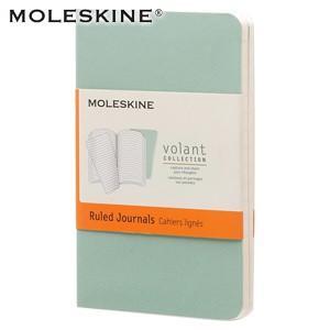 ノート 横罫 モレスキン ヴォラン XSサイズ 横罫 ノートブック 2冊セット セージグリーン/シーウィードグリーン No. 890341|nomado1230