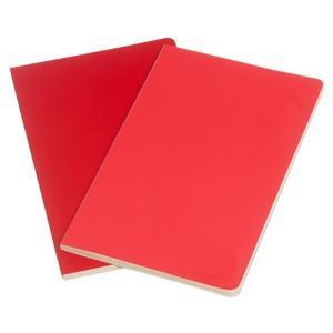 ノート 無地 モレスキン ヴォラン ポケットサイズ 無地 ノートブック 2冊セット ゼラニウムレッド/スカーレットレッド No. 890433 nomado1230 02