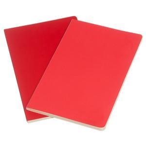 ノート 横罫 モレスキン ヴォラン ラージサイズ 横罫 ノートブック 2冊セット ゼラニウムレッド/スカーレットレッド No. 890471|nomado1230|02