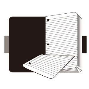 ノート A4 横罫 モレスキン フォリオプロフェッショナル A4サイズ ルールド 横罫 ノートパッド ブラック No. 406807|nomado1230|04