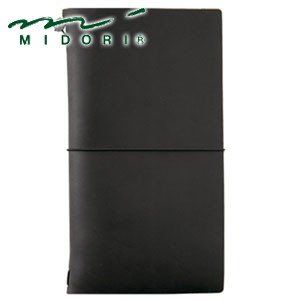 手帳 革 ミドリ レギュラーサイズ トラベラーズノート 黒 No. 13714006