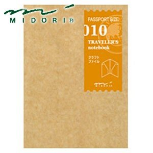 リフィル ミドリ パスポートサイズ リフィル クラフトファイル 5セット No. 14334006|nomado1230