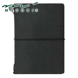 手帳 革 ミドリ パスポートサイズ トラベラーズノート 黒 No. 15026006