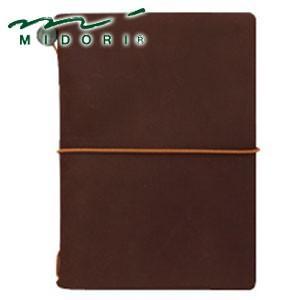 手帳 革 ミドリ パスポートサイズ トラベラーズノート 茶 No. 15027006