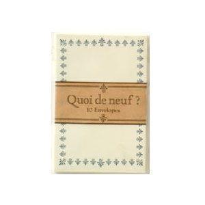 封筒 ライフ 名刺封筒 10個セット クワ・デ・ヌフ E573A nomado1230