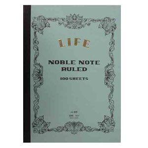 ノート B6 横罫 ライフ B6 横罫8ミリ本文100枚 5冊セット ノーブルノート N30|nomado1230