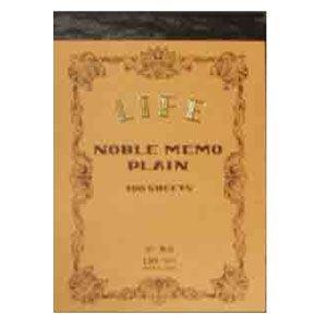 ノート B7 無地 ライフ B7 無地本文100枚 5冊セット ノーブルメモ N41|nomado1230
