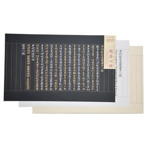 印刷用紙 ライフ 写経用紙 金銀手本付き 5冊セット 07-140|nomado1230