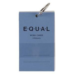 単語帳 ライフ イコール 5×3サイズ 白 単語カード 青 5冊セット P319A|nomado1230