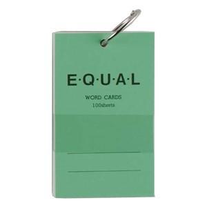 単語帳 ライフ イコール 5×3サイズ 白 単語カード 緑 5冊セット P319B|nomado1230