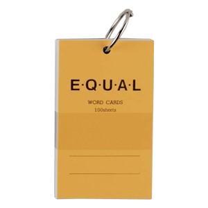 単語帳 ライフ イコール 5×3サイズ 白 単語カード 黄 5冊セット P319C|nomado1230