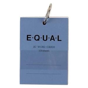 単語帳 A7 ライフ イコール A7サイズ 白 単語カード 青 5冊セット P320A|nomado1230