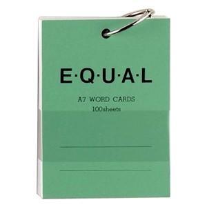 単語帳 A7 ライフ イコール A7サイズ 白 単語カード 緑 5冊セット P320B|nomado1230
