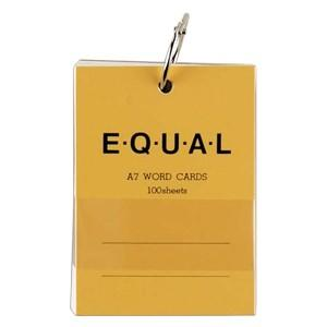 単語帳 A7 ライフ イコール A7サイズ 白 単語カード 黄 5冊セット P320C|nomado1230
