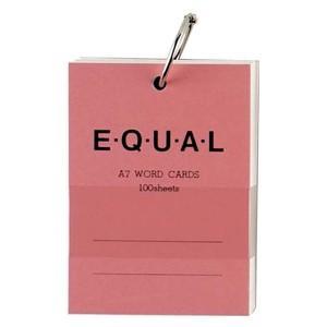 単語帳 A7 ライフ イコール A7サイズ 白 単語カード ピンク 5冊セット P320D|nomado1230
