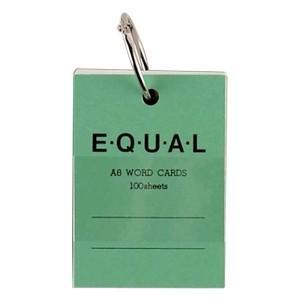 単語帳 ライフ イコール A8サイズ 白 単語カード 緑 5冊セット P321B|nomado1230