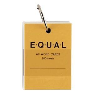 単語帳 ライフ イコール A8サイズ 白 単語カード 黄 5冊セット P321C|nomado1230