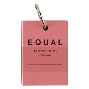 単語帳 ライフ イコール A8サイズ 白 単語カード ピンク 5冊セット P321D|nomado1230