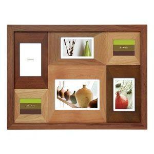 フォトフレーム 写真立て ラドンナ アバンティシリーズ AVANTI カラーウッドフレーム 6窓 ブラウン フォトフレーム CW30-60-BR|nomado1230
