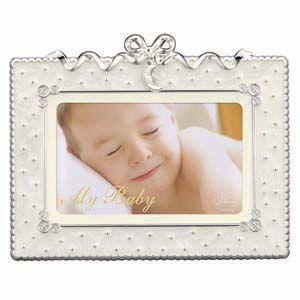 フォトフレーム 写真立て ラドンナ ベビーコレクション スタンド型 リボンチャーム・ムーン ホワイト アルバム・フォトフレーム MB31-P-WH|nomado1230