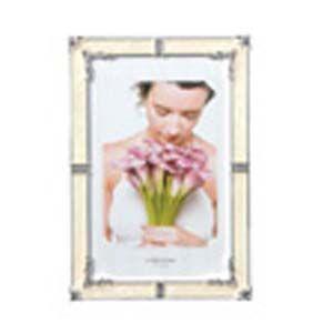 フォトフレーム 写真立て ラドンナ ブライダルコレクション スタンド型 クリスタル・エポキシ ポストカードサイズ アルバム・フォトフレーム ホワイト MJ62-P-WH|nomado1230