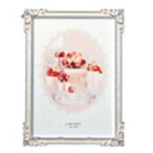 フォトフレーム 写真立て ラドンナ ブライダルコレクション スタンド型 キュートデザイン・エポキシ 2L判サイズ アルバム・フォトフレーム ホワイト MJ63-2L-WH|nomado1230
