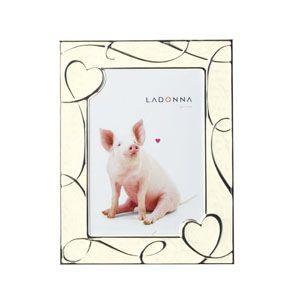 フォトフレーム 写真立て ラドンナ リビングコレクション ハートモチーフ 2L判サイズ フォトフレーム ホワイト NP08-2L-WH|nomado1230