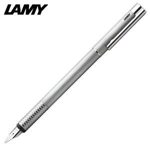 万年筆 名入れ ラミー ロゴ ステンレス 万年筆 ヘアライン L06|nomado1230